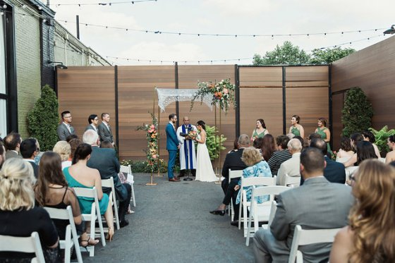 The Green Buidling Summer Wedding Gowanus Brooklyn, NY Clean Plate Pictures