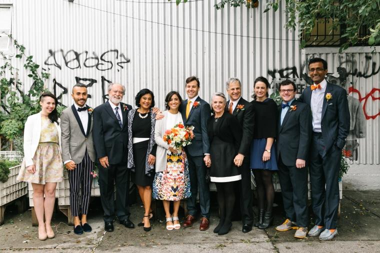 bridal party local flowers brooklyn wedding